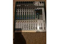 """M-audio 8"""" inch active speakers and soundcraft signature 12 usb active desk"""