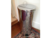 Nearly new IKEA tall 30L pedal bin stainless steel