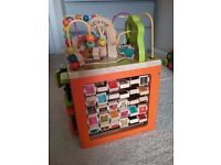 Wooden activity cube (Zany zoo) and quality toddler toy bundle
