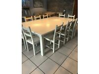 Large Country Kitchen Table and Chairs