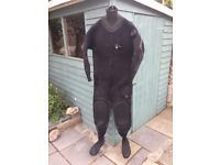 Oceanic neoprene SCUBA drysuit with upgrades. 5 foot 7-11 Shoes 7-9 £150 ONO