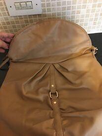 Ladies light tan handbag