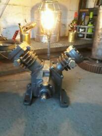 Upcycled engine lamp