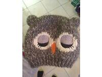 Cute George brown owl wooly hat 1-3 years