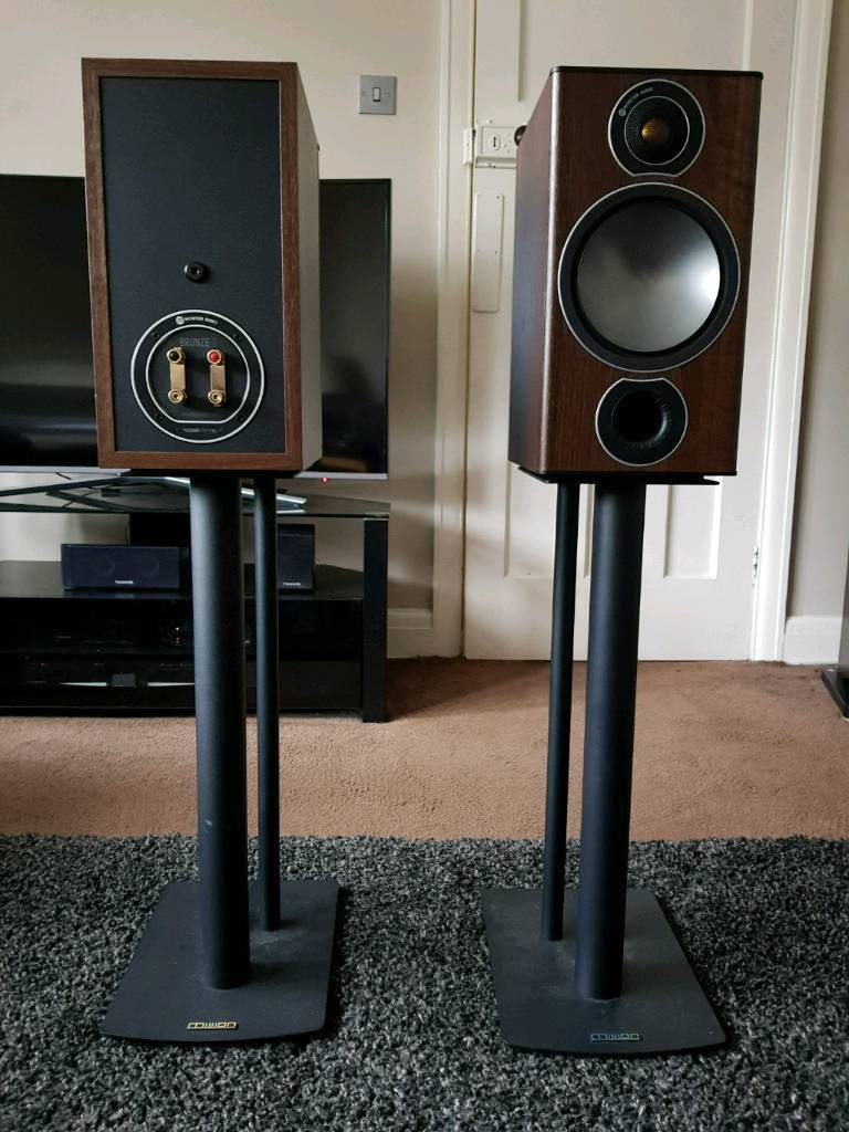 Monitor Audio Bronze 2 Speakers Walnut Free Mission Stands What 6 Hifi 5star Award