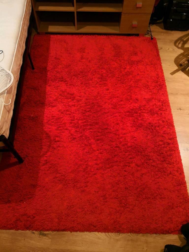 large ikea red rug  in ealing london  gumtree