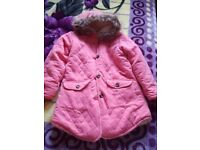 Girls furlined thick winter coat