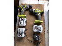 Ryobi battery drills