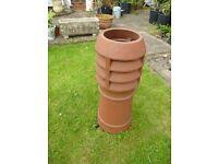 Ornamental terracotta chimney pot