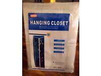 Single Canvas Wardrobe Bedroom Hanging Rail Storage