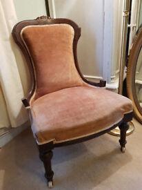 Elegant Antique Victorian Nursing Chair in Excellent Original Condition