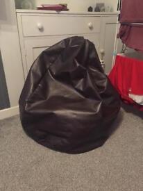 Large Brown Bean Bag