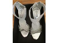 Brand new boxed QUIZ heels size 6