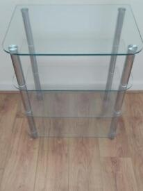 Glass tv/hifi stand