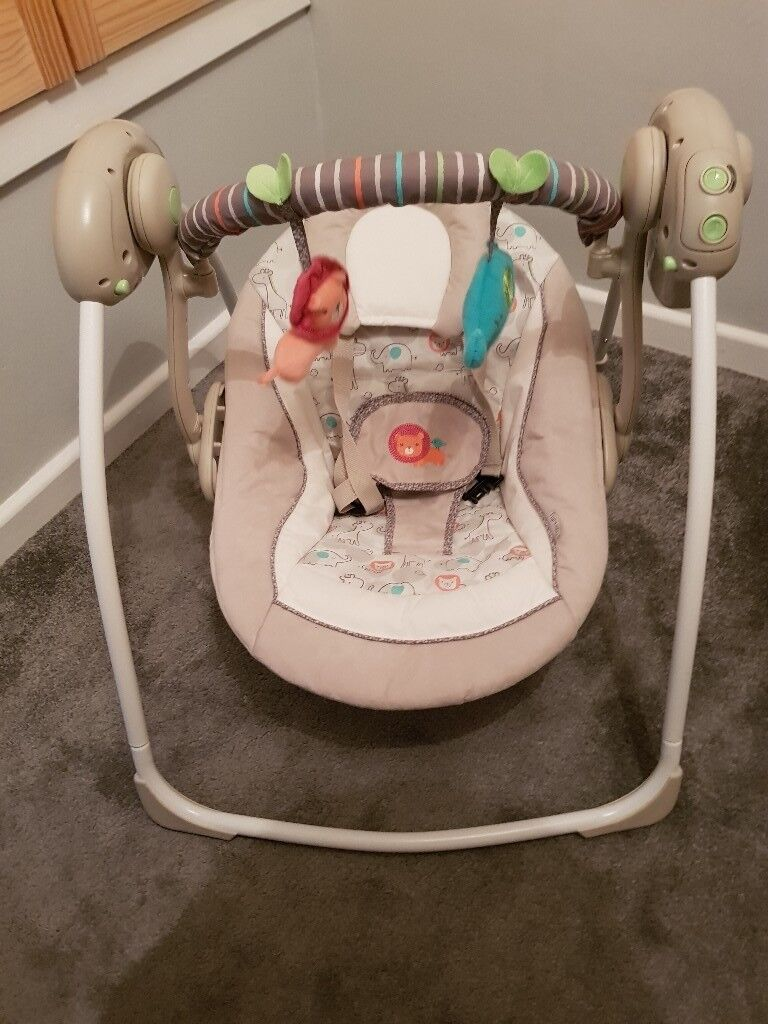 Ingenuity portable baby swing with melodies & 6 swing ...