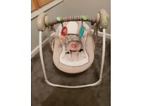 Ingenuity portable baby swing with melodies & 6 swing speeds