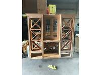 Pine unit/ wine rack/unit