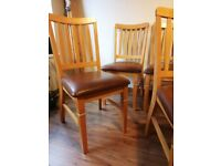 Solid pin dining chairs for sale.