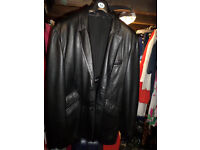 Gents Black Leather Jacket XL Was £130 new -- £30 cash & collect.