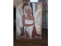 Pierre Farel Canvas Painting, Art Print - La Serviette