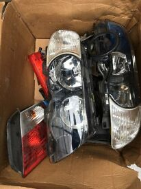 BMW 3 SERIES E46 GINUINE HEADLIGHTS CPL AND REAR LAMPS CPL