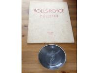 Rolls Royce bulletin book for 1952 + pin dish