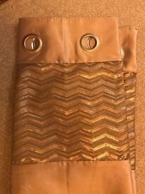 2 pairs of light gold/light bronze coloured curtains from Next