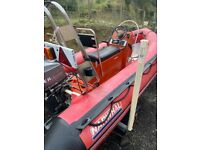 3.8m rib with 30hp mariner outboard