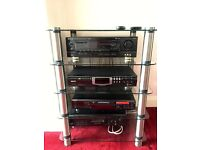 Stereo System with one speaker and stand