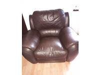 Reclining leather sofa in great condition