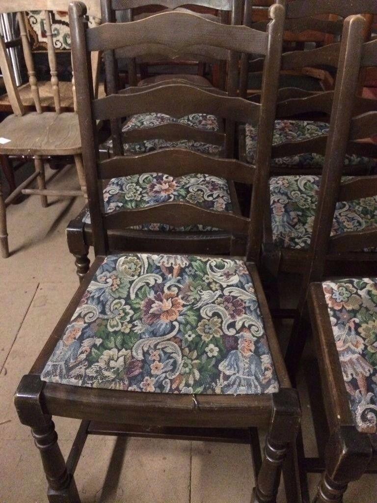 Antique ladderback chairs - 6 X Antique Ladder Back Chairs 6 X Antique Ladder Back Chairs In Honiton