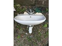 Bathroom basin with tap