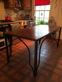 Handmade bespoke wrought iron gothic dining table and chairs