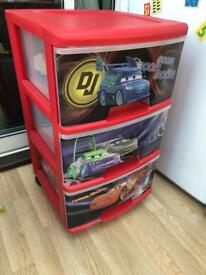 Lightning McQueen Drawers set by Curver. Scooter £4