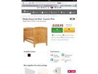 Children's Cot Bed and Waterproof Mattress