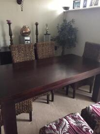 Dark Mango Wood Dining Table