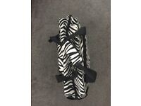 Zebra Print Rolling Laptop Bag