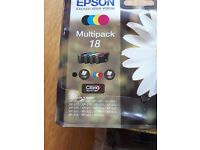 EPSON MULTIPACK 18 PRINTER INK CARTRIDGES