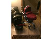 Silver Cross Surf pram, car seat and accessories only used for a few months. In great condition.