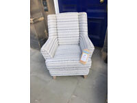Modern Armchair , in great condition . Must be seen Size W 31in D 29in H 37in Free Local Delivery