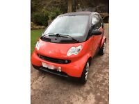 Smart Four Two Pure 29,000 miles lovely condition 2003 Red and Black.