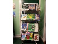Double sided book display stand