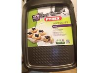 New non stick 33x25cm baking tray Pyrex Asimetria