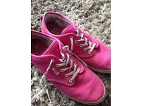 Ladies pink Vans canvas shoes Size 7