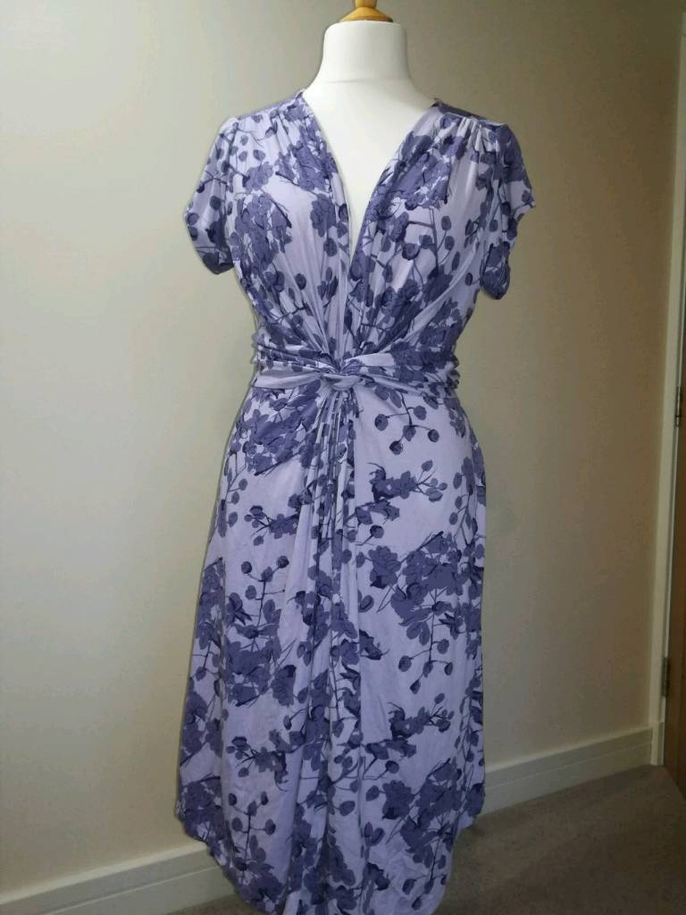 bc6b92118ad28 Seraphine- Lavender Blossom Knot Front Maternity Dress (Size 16 ...