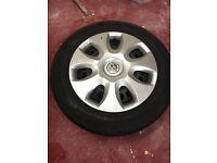 Vauxhall Corsa 2008 Steel Wheels & Tyres. Very Good Condition