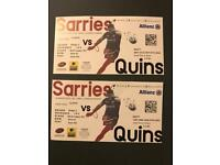 Sarries v quins rugby tickets 24/3/18 (this sat)