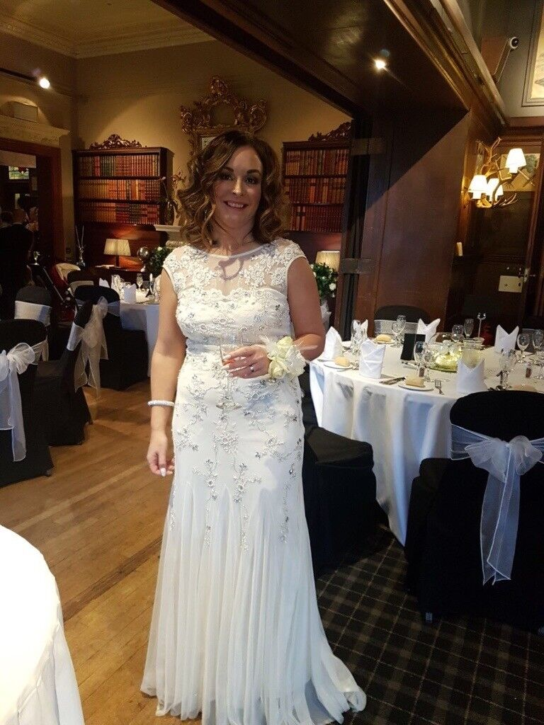 Wedding dress from Monsoon, size 14, vintage style in excellent ...