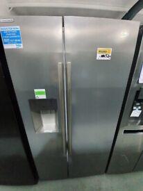 BEKOAmerican-Style Fridge Freezer - Steel*Ex-Display* (12 Month Warranty)