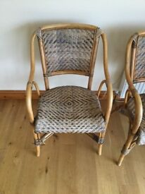 3 Rattan/ Wicker/ Conservatory Chairs
